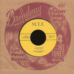 """Image of 7"""" Frank Monday & The Steppers : Stepping. Ltd Edition Repro."""