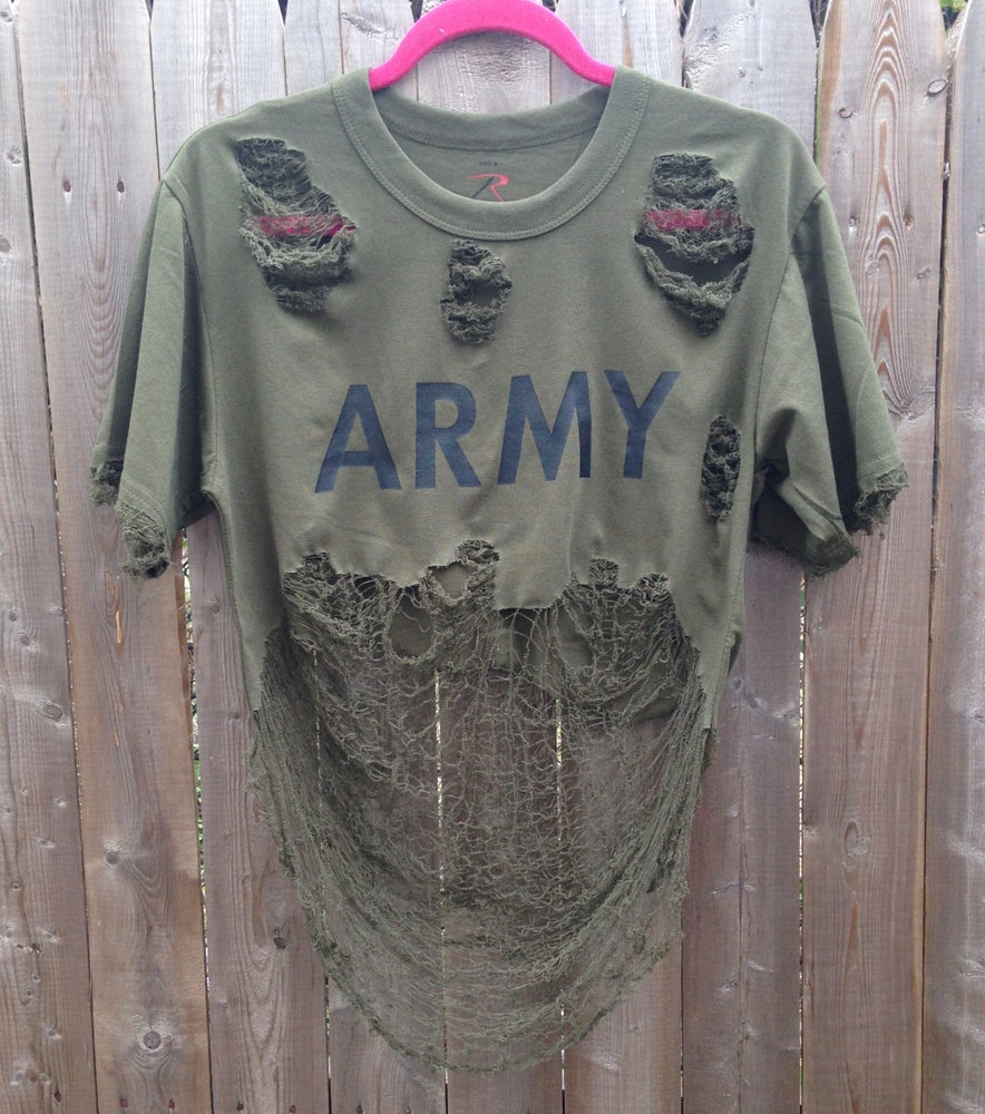 Image of Cropped Army Tee