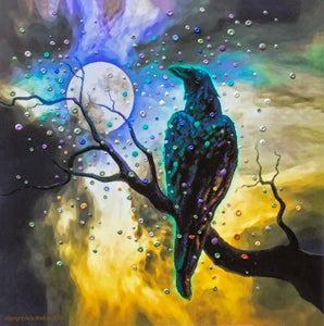 Image of Raven's Moon Energy Painting - Giclee Print
