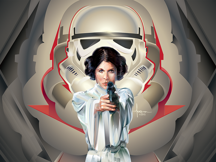 Image of STAR WARS - ADVERSARIES_Princess Leia- 24x18 edtn50 2016