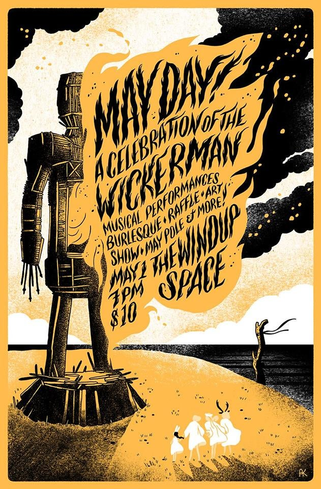 Image of May Day! The Wickerman poster