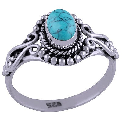 Image of Sterling Silver & Turquoise Lola Ring