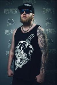 "Image of Machete "" Classic Logo ""  Tank Top  Black"
