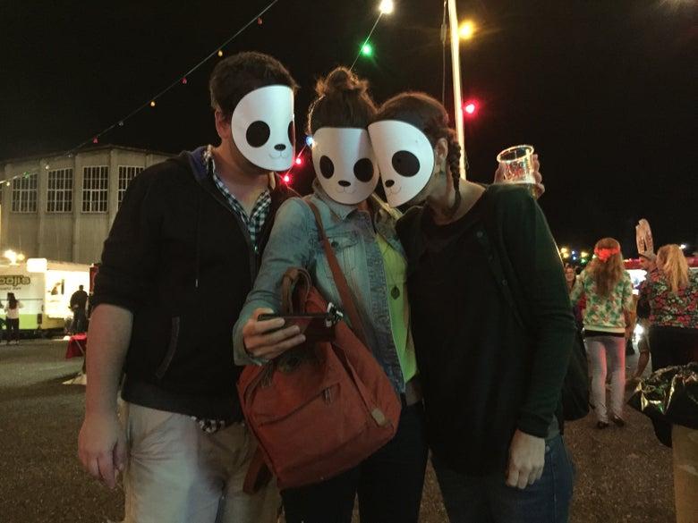 Image of Panda Buns Mask
