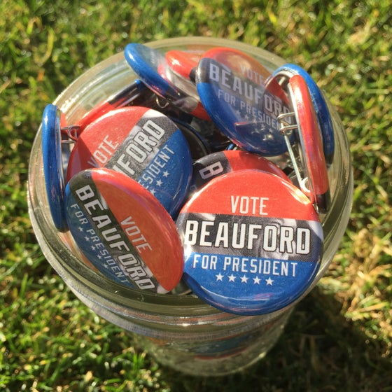 Image of Vote for Beauford button
