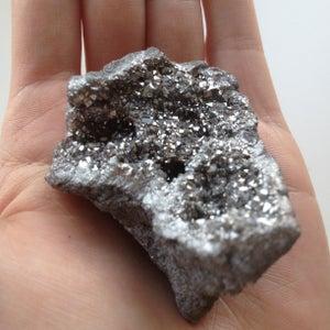 Image of Silver Aura Quartz Geode