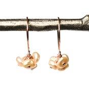 Image of Blush freshwater cultured keshi pearl cluster earrings