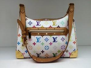 Image of Louis Vuitton White Monogram Multicolor Boulogne Bag