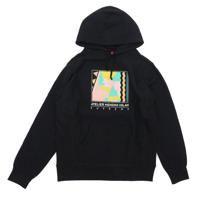 Image of Supreme Mendini Black Pullover Hoody XL