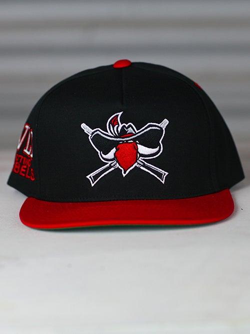 Image of Rioting Rebel Red/Blk hat