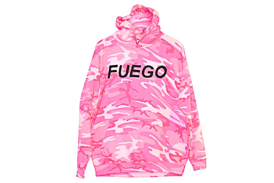 "Image of ""Fuego"" Hoodie (Pink Camo)"