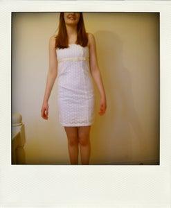 Image of White Strapless Dress