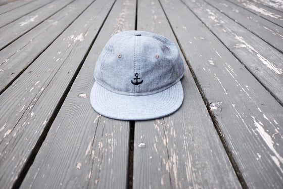 Image of Any Port - Polo Cap Black Oxford Chambray