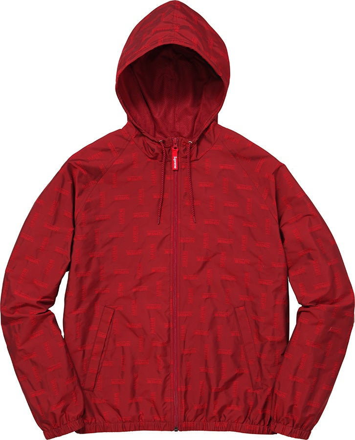 Image of Supreme Jacquard Windbreaker Small Red
