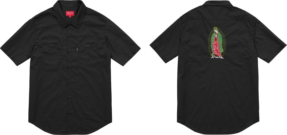 Image of Supreme Mary Work Shirt M Navy