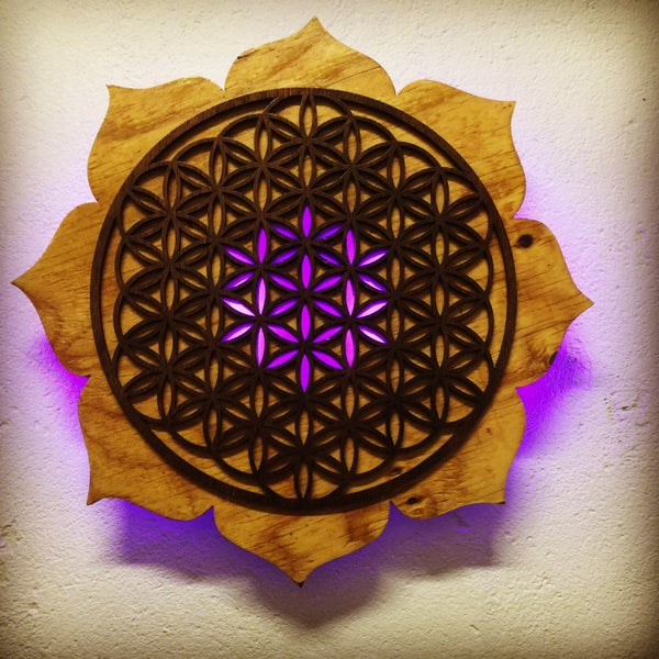 Image of Lotus Flower of Life (LED)