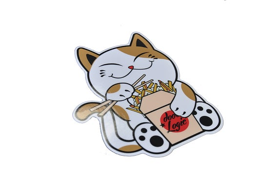Image of Poutine Cat Sticker