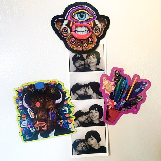 """Image of 3"""" Die-Cut Magnet Set Of 3! (Cute Ass Photo not included)"""