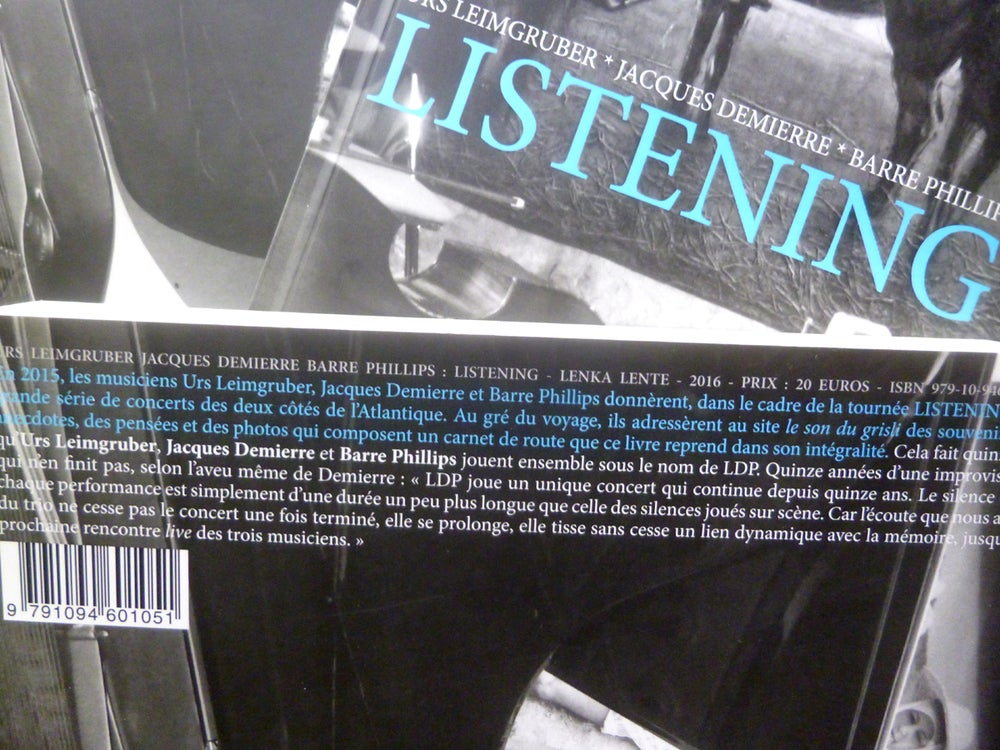 Image of Listening d'Urs Leimgruber, Jacques Demierre et Barre Phillips