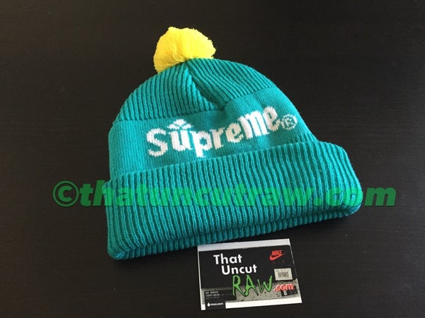 "Image of supreme ""citrus"" beanie, used"