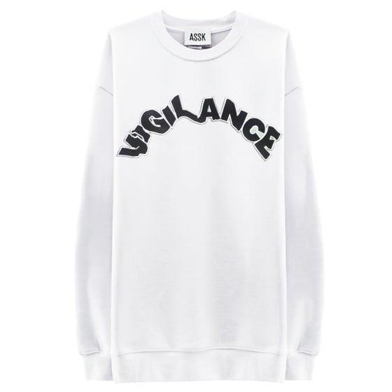 Image of VIGILANCE Sweatshirt - White