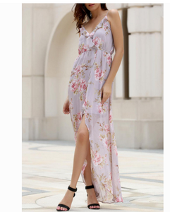 Image of HOT FLOWER CHIFFON FLORAL BEACH DRESS