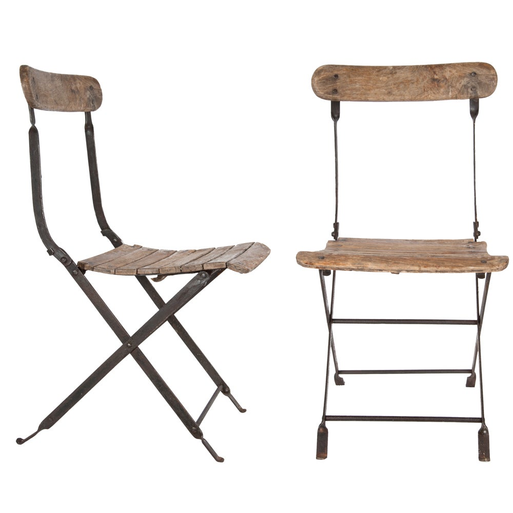 Image of Two French Wine Tasting Chairs
