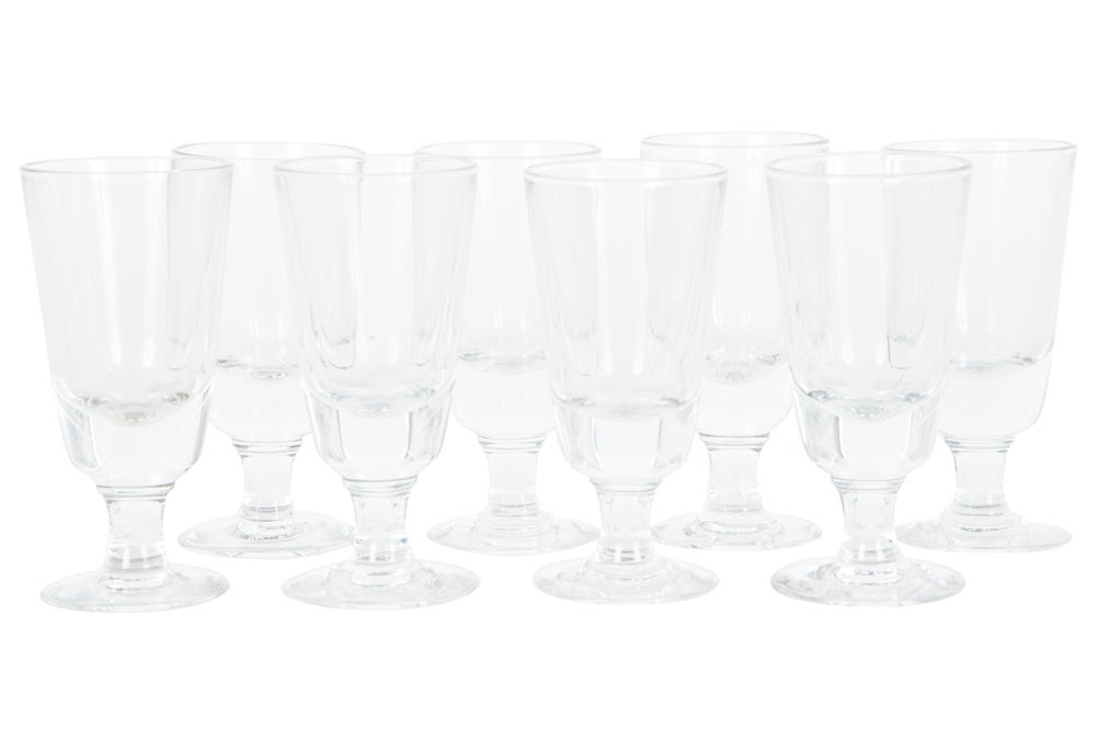 Image of Set of 8 French Coffee Glasses