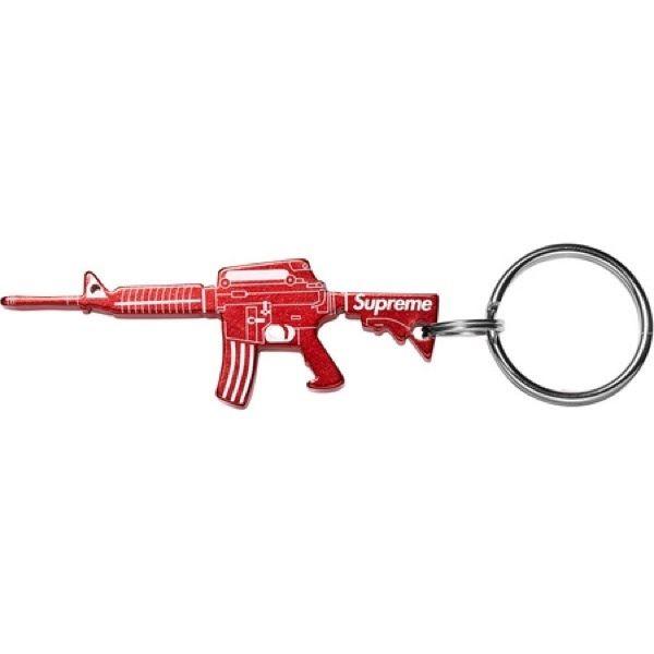 Image of Supreme M16 Bottle Opener Keychain RED