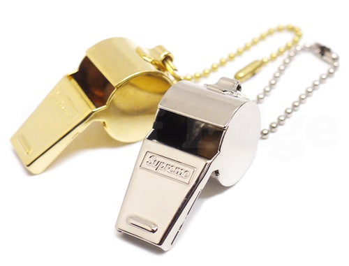Image of Supreme Gold Whistle Keychain