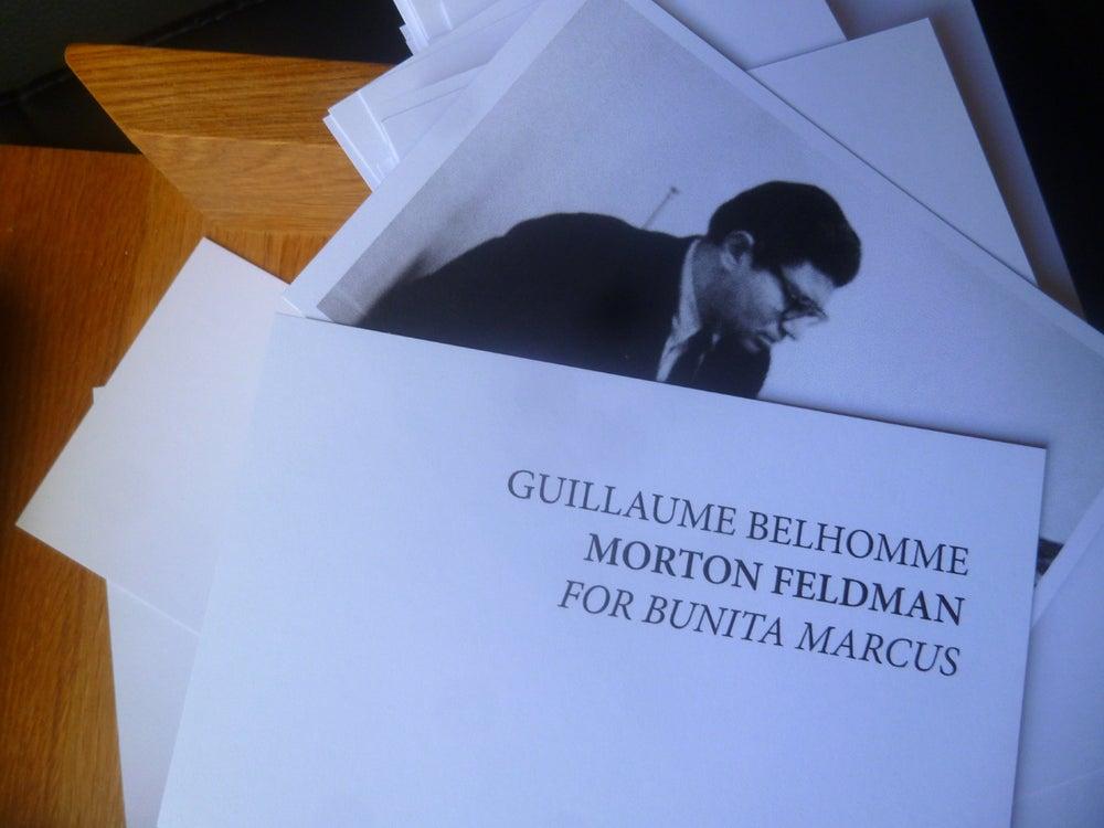 Image of Morton Feldman : For Bunita Marcus / Une minute de Guillaume Belhomme