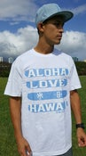 Image of Love Aloha (white/dusty blue)