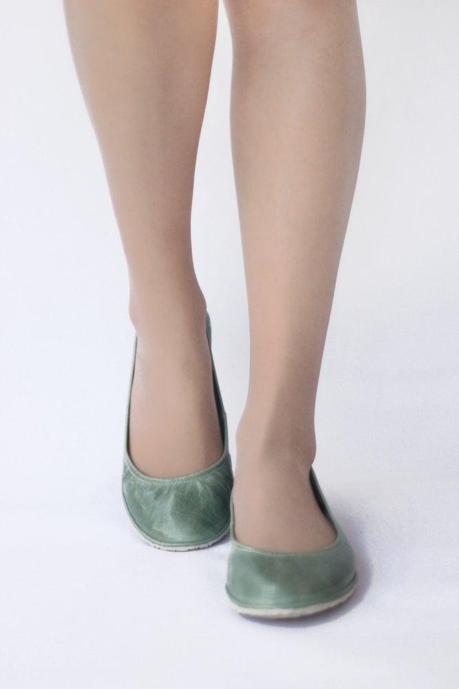 Image of Eko in Mint - Handmade Leather ballet flats