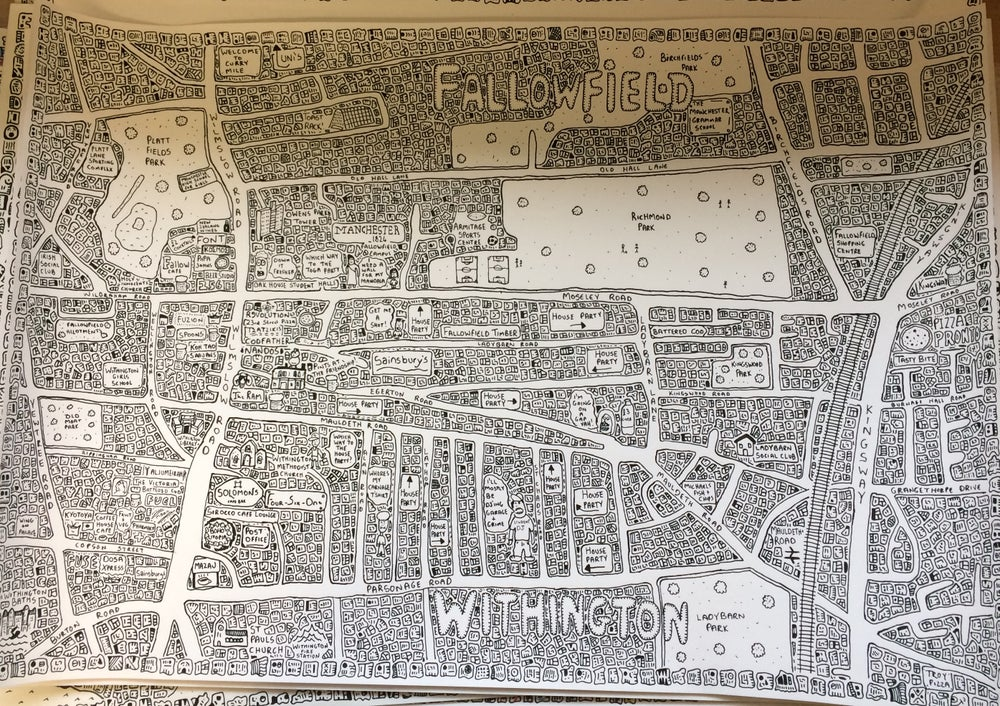 Image of Fallowfield & Withington Doodle Map