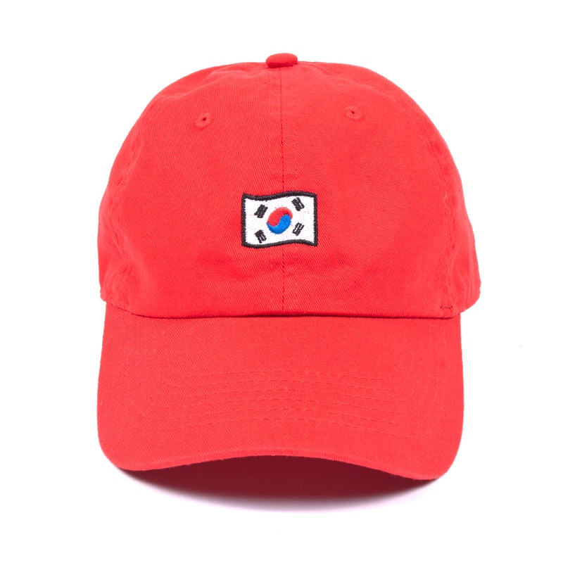 Image of Korea Low Profile Sports Cap - Red