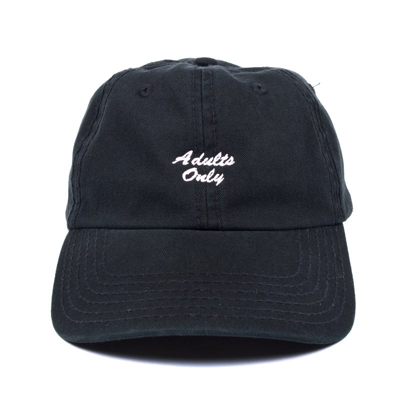 Image of Adults Only Low Profile Sports Cap - Black