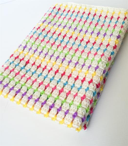 Image of Candy Pop Crochet Baby Blanket
