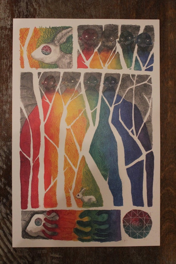 """Image of roco """"rabbit"""" poster (limited run of 50)"""