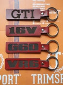 Image of Trimsport LIMITED EDITION VW Red Leather Keyrings