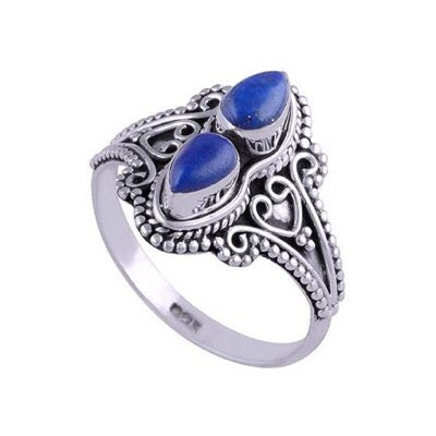 Image of Sterling Silver & Lapis Lazuli Orion Ring