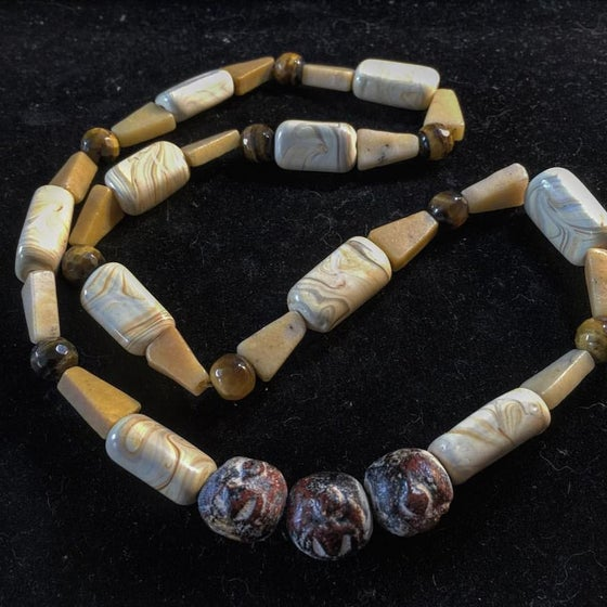 Image of A Touch of the Sun for Healing ~Sacred Mala Bead, Jasper, Tiger Eye Necklace
