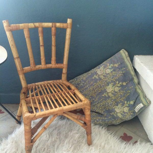 Image of Sigrid chaise enfant en rotin