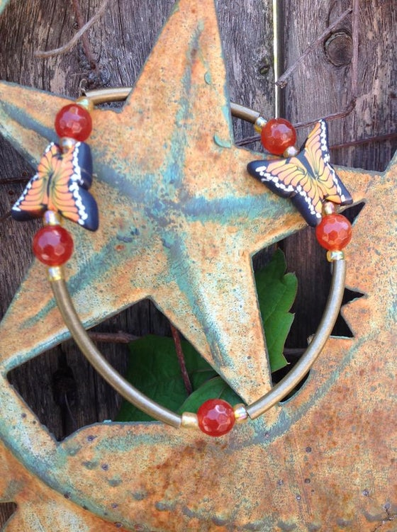 Image of Butterfly Goddess~TRANSITION~Brass with Carnelian