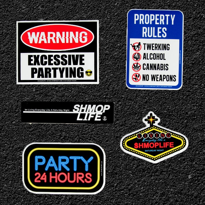 Image of PARTY STICKER PACK #2