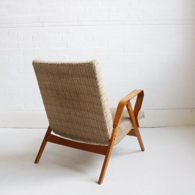 Image of 1960s chair by Tatra in original fabric
