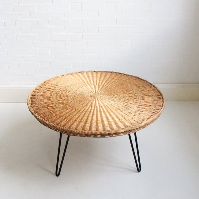 Image of Large rattan table