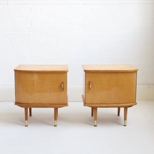 Image of Midcentury bedside tables from Belgium