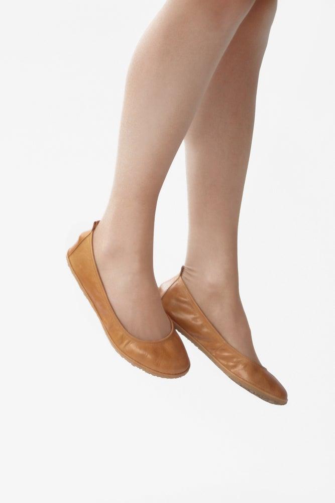 Image of Eko in Glorious Wheat - Handmade Leather ballet flats