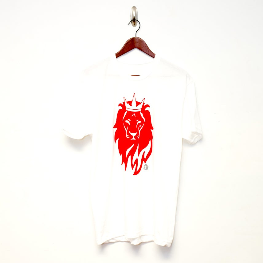 "Image of BeRoyal ""Lion Head"" Tee White/Black"