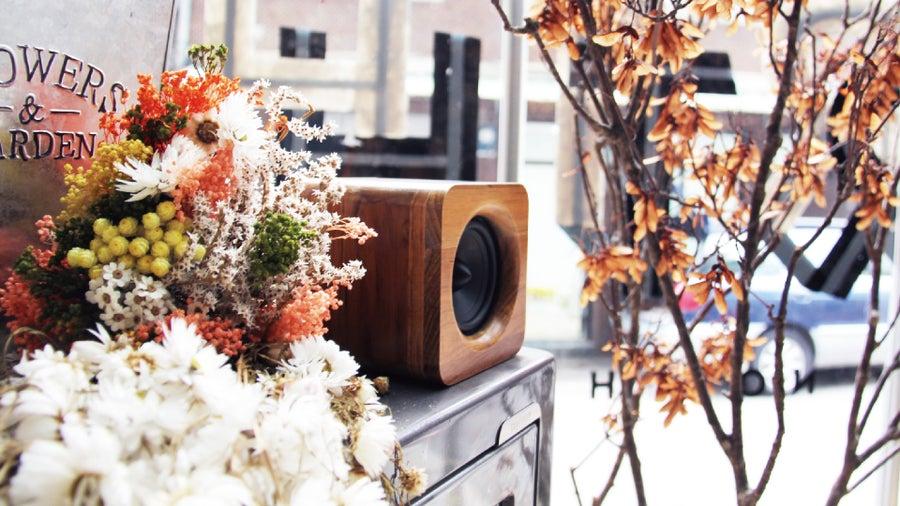 Image of Min623 portable bluetooth speaker-teak